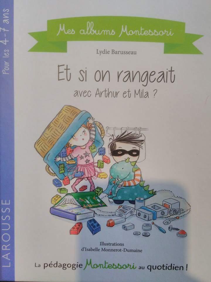 Album Montessori «Et si on rangeait? Avec Arthur et Mila»