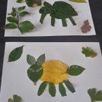 activité collage d'automne: animaux en feuilles d'automne