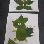 collage d'animaux avec feuilles d'automne