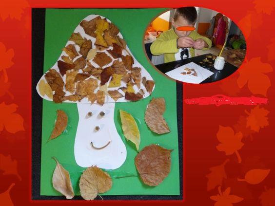Champignon d'automne à décorer