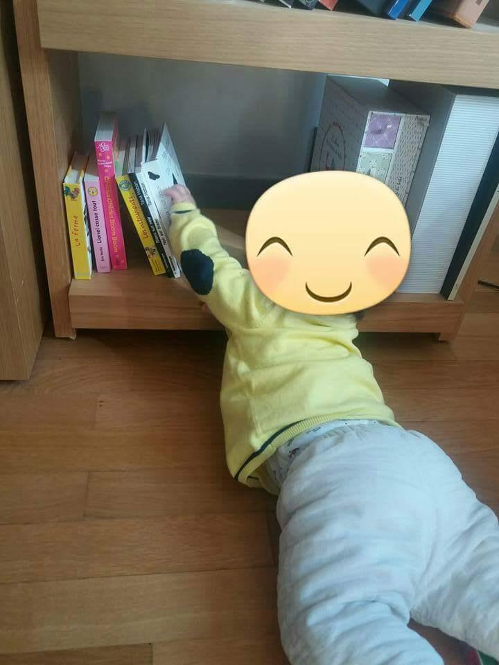 Aménagement d'un coin lecture à domicile pour bébé à la façon Montessori