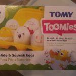Toomies, une boite à oeuf qui va occuper longtemps bébé!