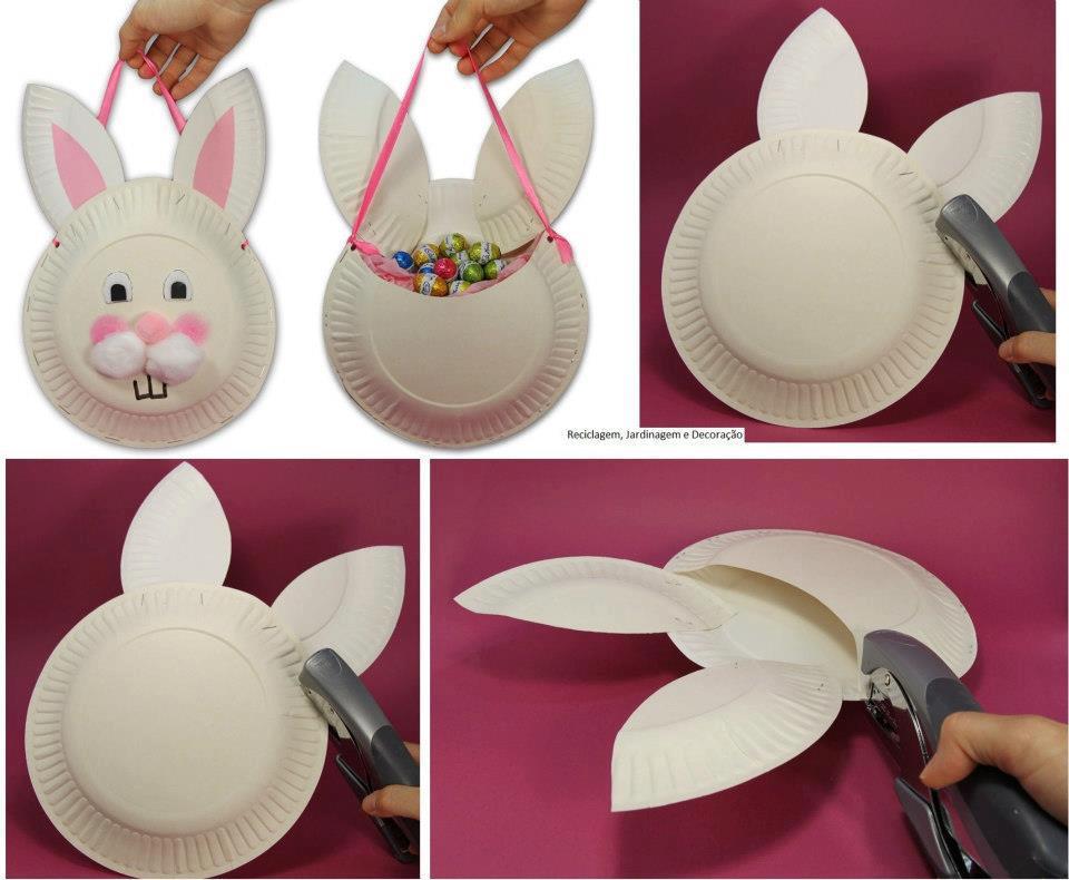 Fabriquer un joli panier pour pâques en forme de lapin