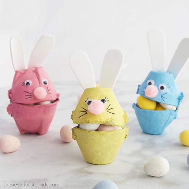 Lapins en boite à œuf