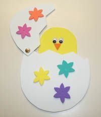 Poussin pop-up à fabriquer pour Pâques