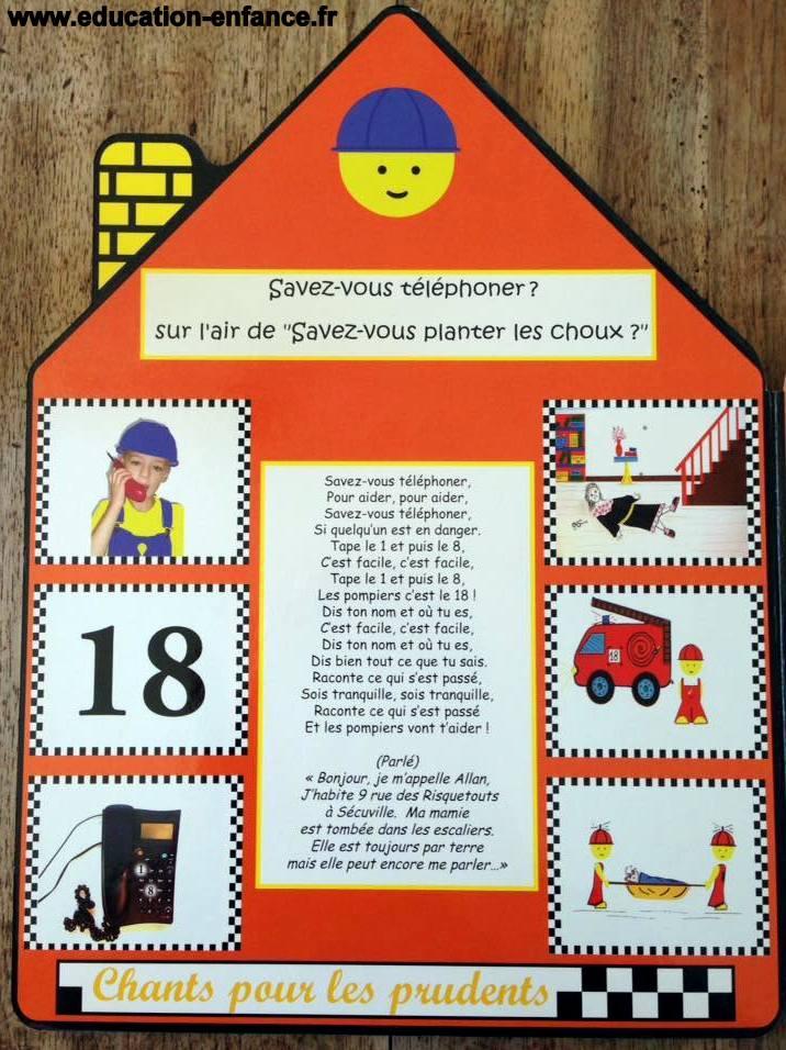 Chanson enfantine Savez-vous téléphoner aux pompiers? (Sur l'air de Savez-vous planter les choux?»