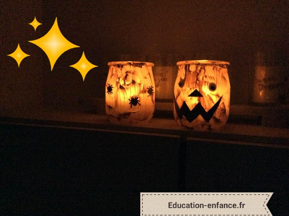Bougies citrouilles à fabriquer pour halloween