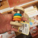 Hochet bébé Montessori en bois 3 anneaux Plan toys