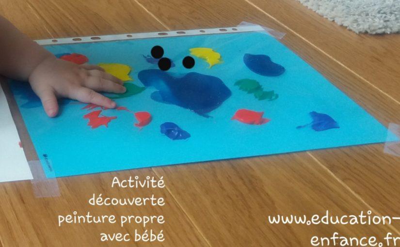 La peinture propre: activité créative et sensorielle pour bébé