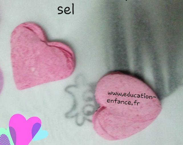 Cœurs en pâte à sel à fabriquer(Dès 2 ans)