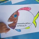 Coloriage d'un poisson, une activité idéale pour faire des farces lors du 1 er Avril!