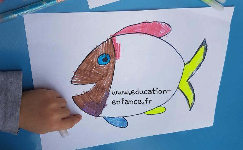 Coloriage D Un Poisson Une Activite Ideale Pour Faire Des Farces Lors Du 1 Er Avril Education Enfance Fr