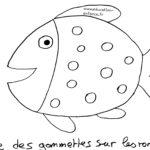 Activité 1 er avril gommettes sur un poisson (Dès 2 ans)