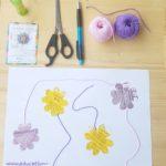 Activité collage de fleur à réaliser par les enfants