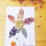 Activité collage de fleurs