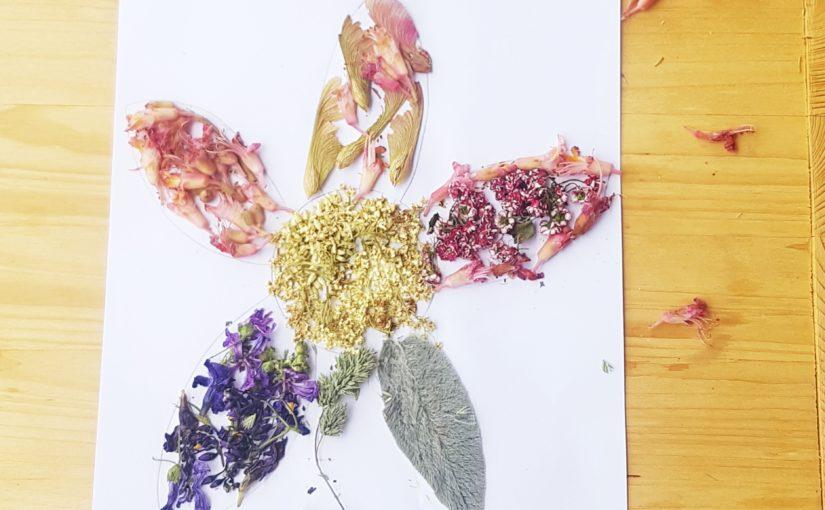 Activité collage de fleurs idées pour la fête des meres et pères