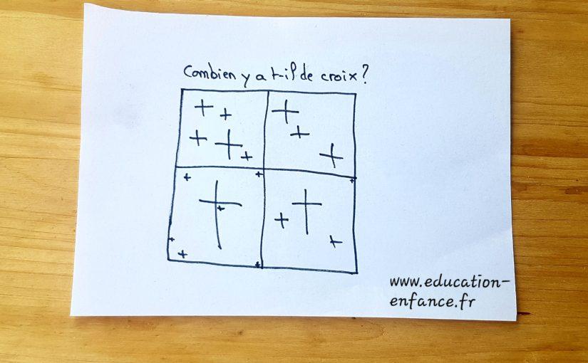 Jeu de reflexion:trouver le nombre de croix(Dès 4 ans)