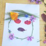 Activité collage de fleurs pour les enfants
