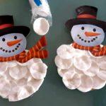 Fabriquer un bonhomme de neige en coton
